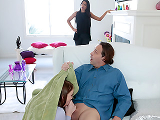 Girl forces creampie porn